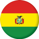 Bolivia Country Flag 58mm Mirror Keyring